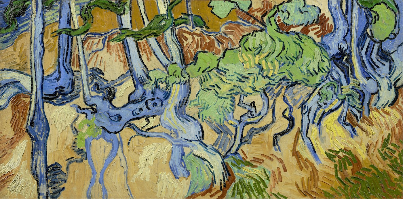 """Vincent Van Gogh, """"Tree Roots""""."""