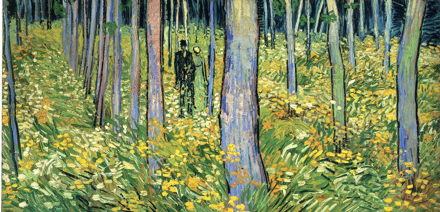 """Vincent Van Gogh, """"Undergrowth with Two Figures""""."""