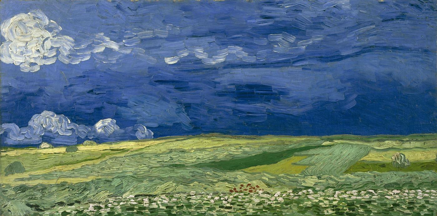 """Vincent Van Gogh, """"Wheatfield under Thunderclouds""""."""