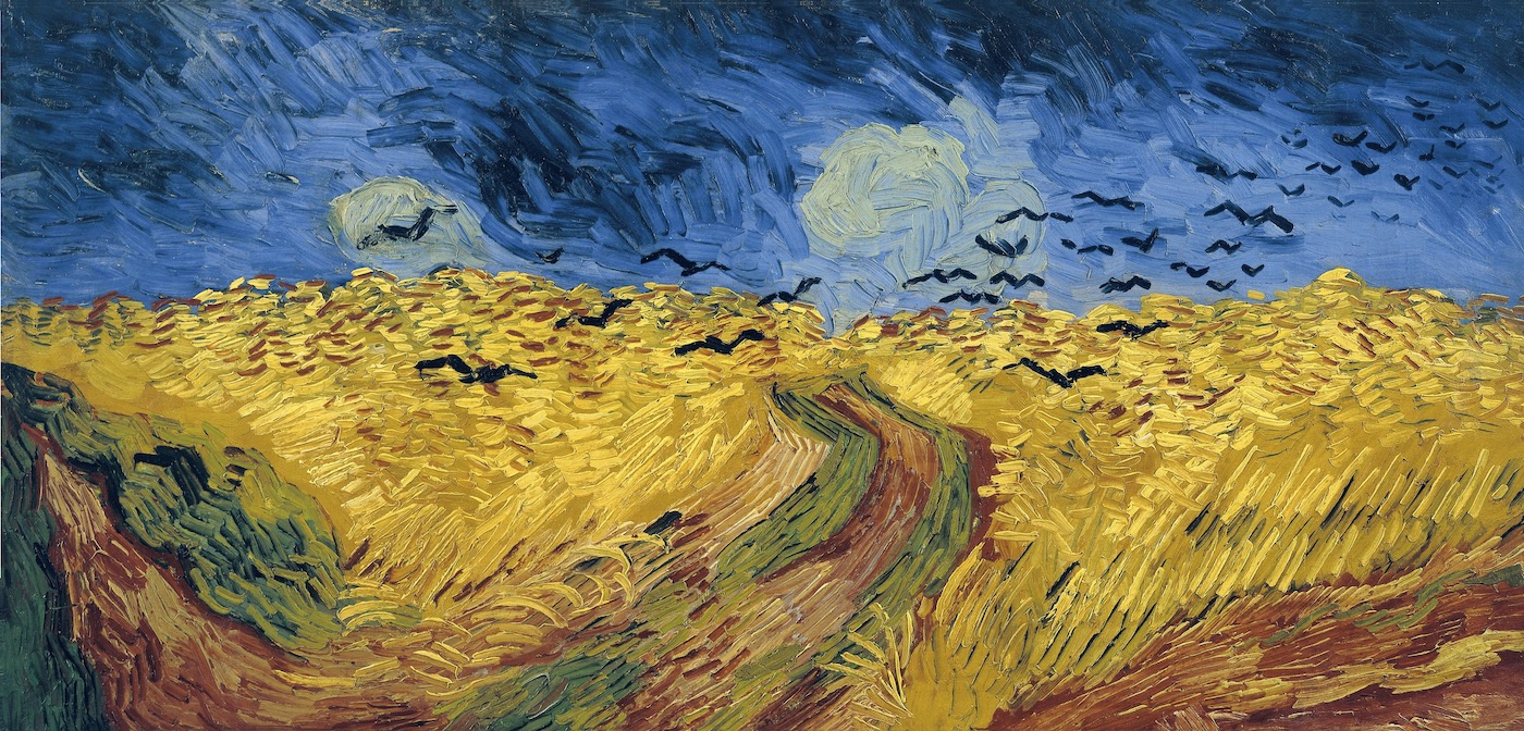 """Vincent Van Gogh, """"Wheatfield with Crows""""."""